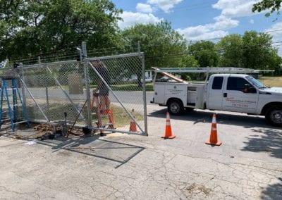 Austin gate installation